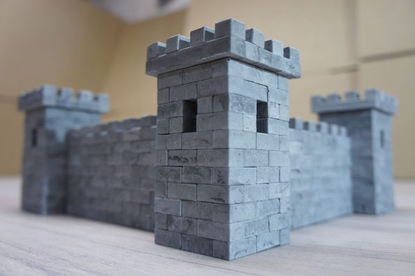Замок из миникирпичиков, набор из миникирпичиков купить