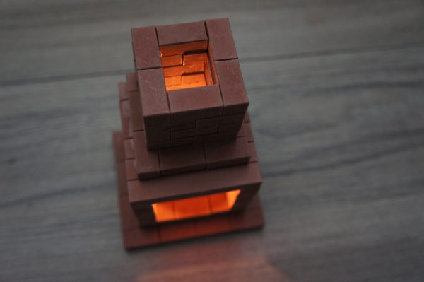 Камин из мини кирпичиков